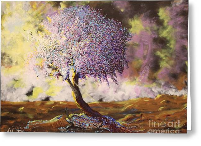 Illuminism Greeting Cards - What Dreams May Come Spirit Tree Greeting Card by Stefan Duncan