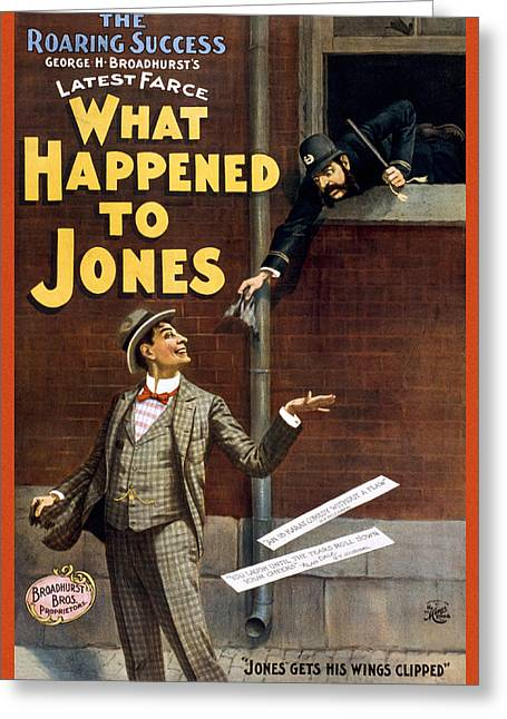 Historic Drawings Greeting Cards - What happened to Jones Greeting Card by Aged Pixel
