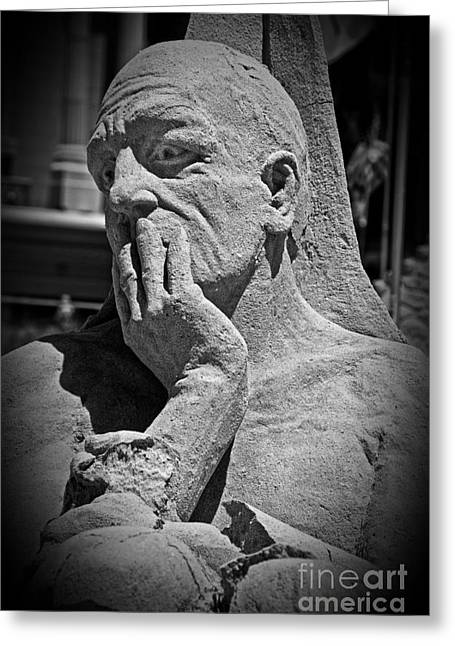 Distraught Greeting Cards - What Have I Done Greeting Card by Tom Gari Gallery-Three-Photography