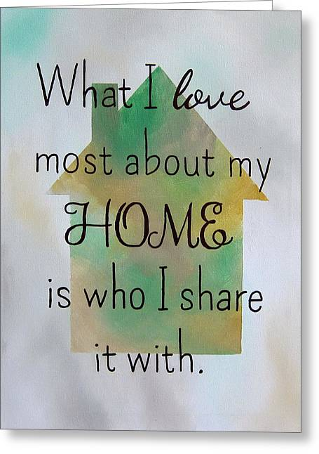 What I Love Most 9x12 Greeting Card by Michelle Eshleman