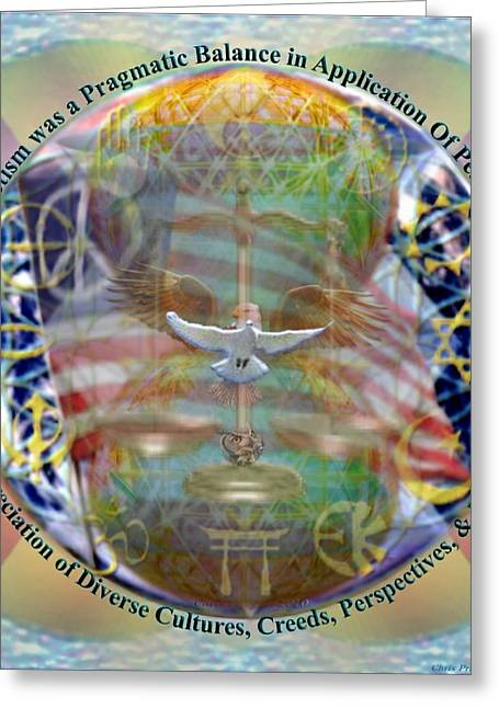 Chalice Greeting Cards - What if Balance Was Patriotism LRG Greeting Card by Christopher Pringer