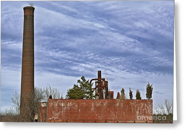 Smokestack Greeting Cards - What If C Greeting Card by Patrick M Lynch