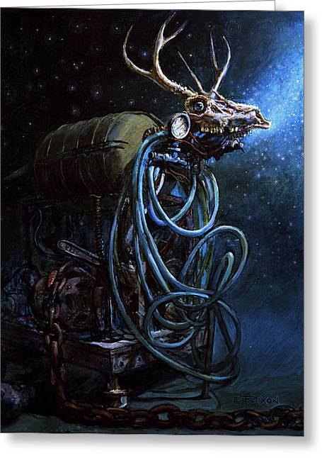 Fantasy Creatures Paintings Greeting Cards - What if... Greeting Card by Frank Robert Dixon