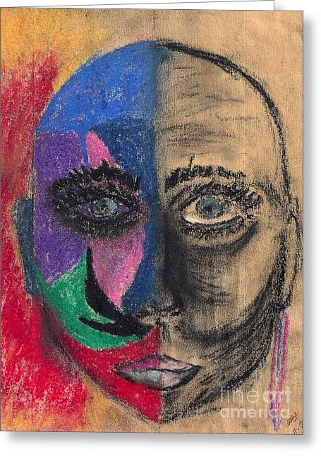 Inner Self Pastels Greeting Cards - What If I Lose My Mind Greeting Card by Suzi Gessert