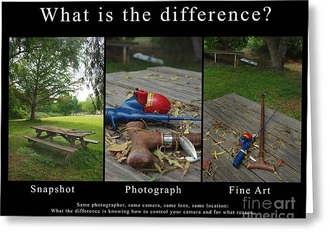 Amateur Photography Greeting Cards - What is the Difference Greeting Card by Peter Piatt