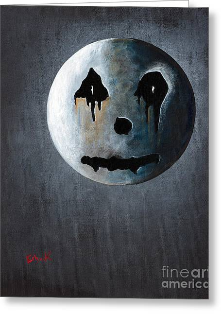 Utherworlds Paintings Greeting Cards - What Its Like Without You - Gothic by Shawna Erback Greeting Card by Shawna Erback
