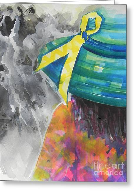 Abstract Shapes Greeting Cards - What Lies Ahead Series....Chaos  Greeting Card by Chrisann Ellis