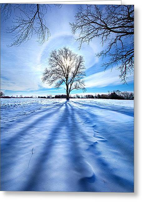 Freeze Greeting Cards - What Lies Beneath Greeting Card by Phil Koch