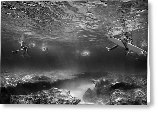 Ocean Art Photography Greeting Cards - What lies beneath Greeting Card by Sean Davey