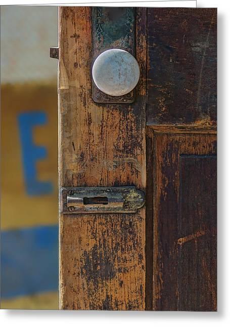 Knob Greeting Cards - What Lies Beyond Greeting Card by Nikolyn McDonald