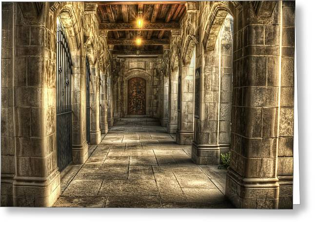 Hallways Greeting Cards - What Lies Beyond Greeting Card by Scott Norris