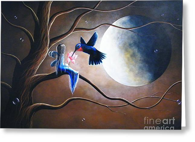 Recently Sold -  - Night Angel Greeting Cards - What Love Looks Like by Shawna Erback Greeting Card by Shawna Erback