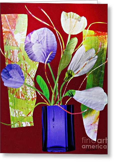 Glass Vase Greeting Cards - What Marie Left Behind Greeting Card by Sarah Loft