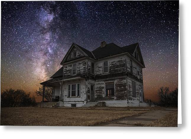 Milky Way Photographs Greeting Cards - What Once Was Greeting Card by Aaron J Groen