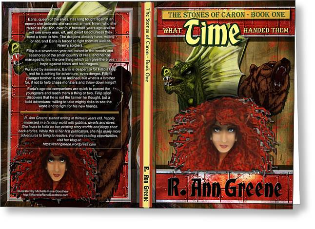Recently Sold -  - Book Cover Art Greeting Cards - What Time Handed Them Greeting Card by Michelle Rene Goodhew