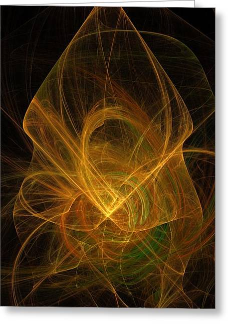 Abstract Digital Light Trails Greeting Cards - What You DO Take With You Greeting Card by Elizabeth McTaggart