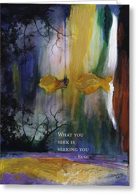 Levi Greeting Cards - What you Seek Greeting Card by Stella Levi