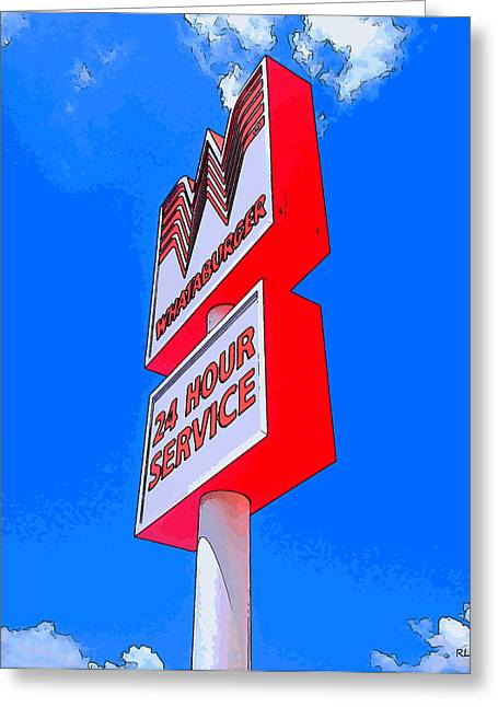 Cheeseburger Digital Greeting Cards - Whataburger Greeting Card by Robert Pierce