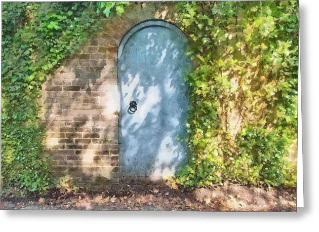 Overgrown Mixed Media Greeting Cards - Whats Behind The Gate? 2 Greeting Card by Roy Pedersen