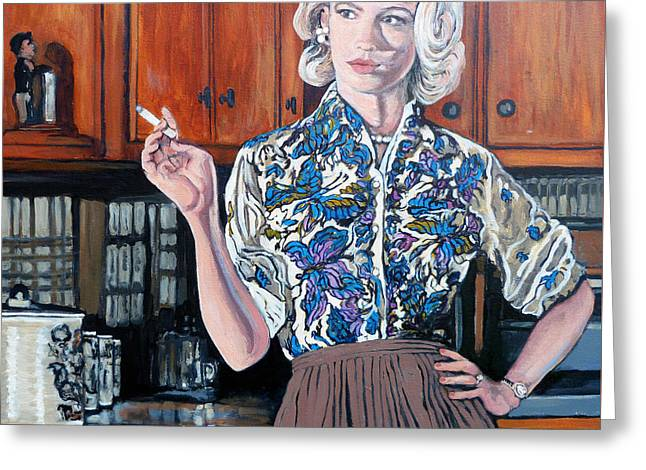 January Jones Greeting Cards - Whats For Dinner? Greeting Card by Tom Roderick