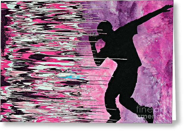 Justin Bieber Paintings Greeting Cards - Whats Hatin Greeting Card by Cyryn Fyrcyd
