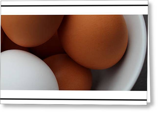 Sunny Side Up Eggs Greeting Cards - Whats in an egg Greeting Card by Barbara Griffin