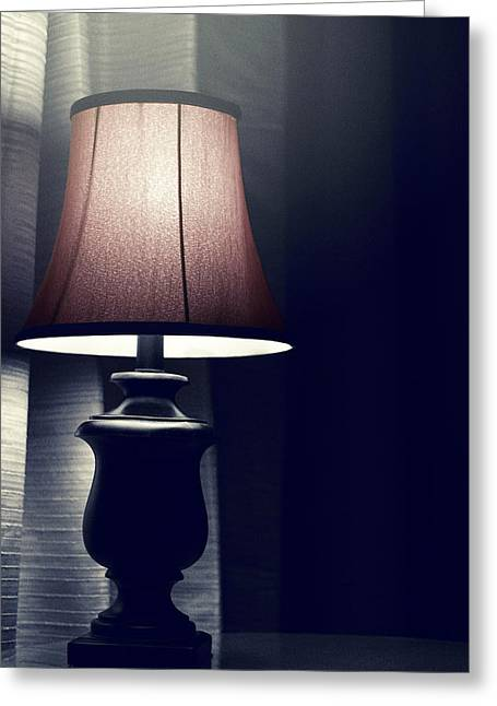 Lampshade Greeting Cards - Whats That Noise? Greeting Card by Trish Mistric