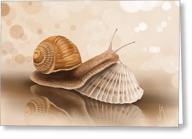 Shell Digital Greeting Cards - Whats the difference? Greeting Card by Veronica Minozzi