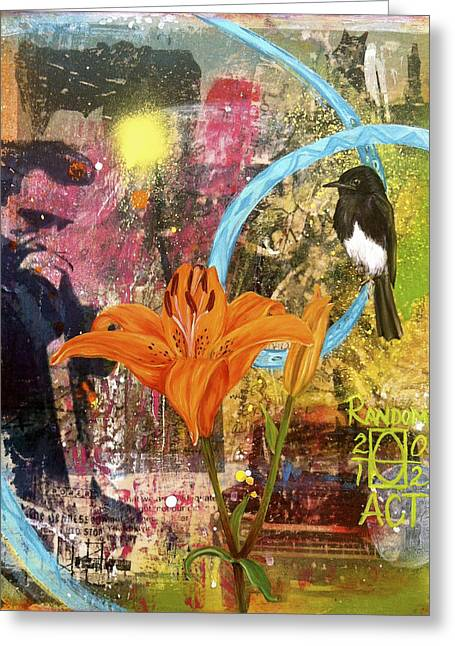 Nashville Tennessee Greeting Cards - Whats Up Tiger Lily Greeting Card by Andrea LaHue aka Random Act