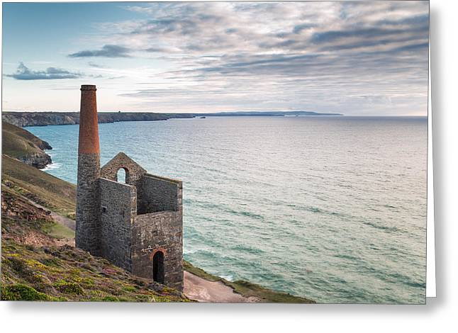 Engine House Greeting Cards - Wheal Coates Tin Mine in Cornwall Greeting Card by Helen Hotson