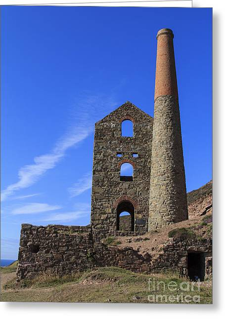 Surfers Porthtowan Greeting Cards - Wheal Coats Cornwall Greeting Card by Brian Roscorla