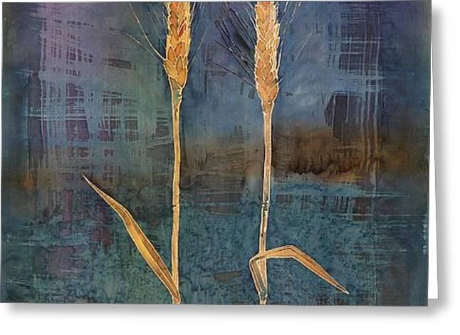 wheat couple Greeting Card by Carolyn Doe