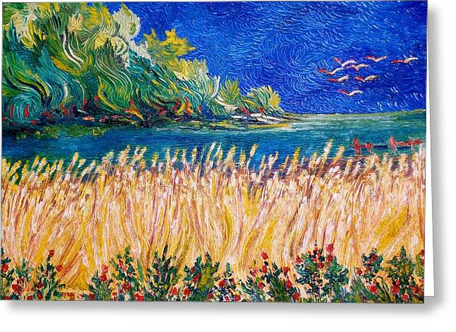 Art Decorator Discounts Greeting Cards - Wheat Field Greeting Card by Gunter  Hortz