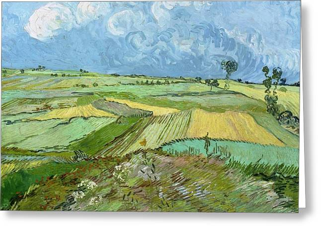 Carnegie Museum Of Art Greeting Cards - Wheat Fields after the Rain Greeting Card by Vincent van Gogh