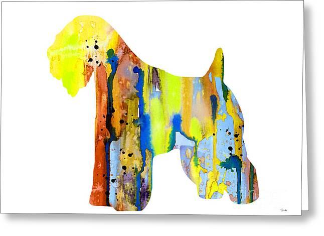Wheaten Terrier  Greeting Card by Luke and Slavi
