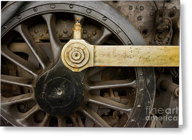 Strasburg Greeting Cards - Wheel and Drive Rod Greeting Card by Paul W Faust -  Impressions of Light