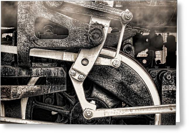 Wheel and Steam Greeting Card by Olivier Le Queinec
