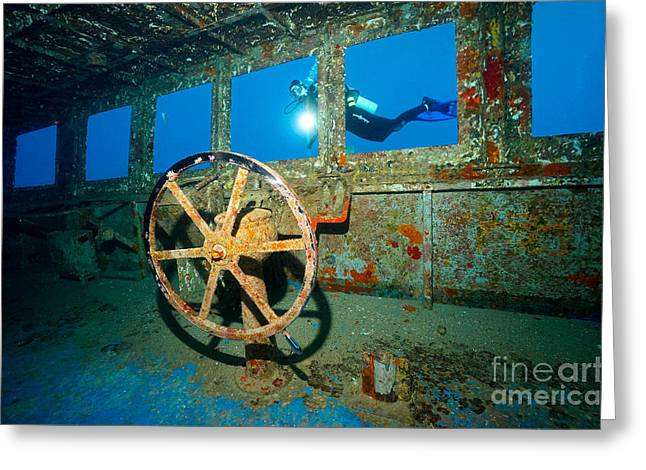 Wheel House Greeting Card by Aaron Whittemore