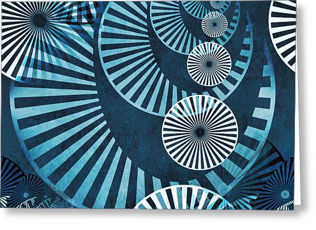 Wheel In The Sky 1 Greeting Card by Angelina Vick