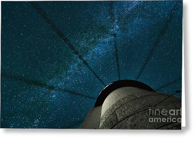 Wheel In The Sky Greeting Card by Scott Thorp