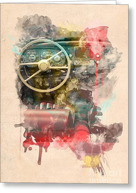 Greeting Cards - Wheel Greeting Card by Martin Dzurjanik