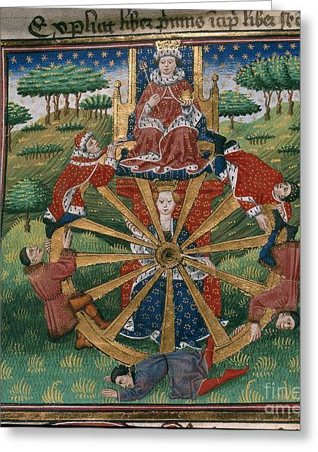 Wheel Of Fortune Greeting Card by British Library