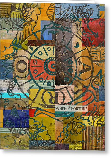 Tarot Cards Greeting Cards - Wheel of Fortune Greeting Card by Corporate Art Task Force