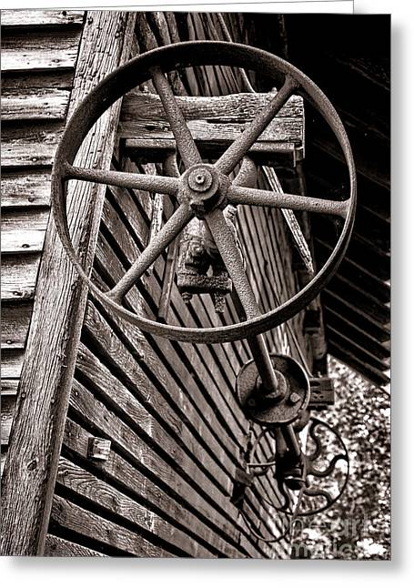 Mechanism Photographs Greeting Cards - Wheel of Labor  Greeting Card by Olivier Le Queinec