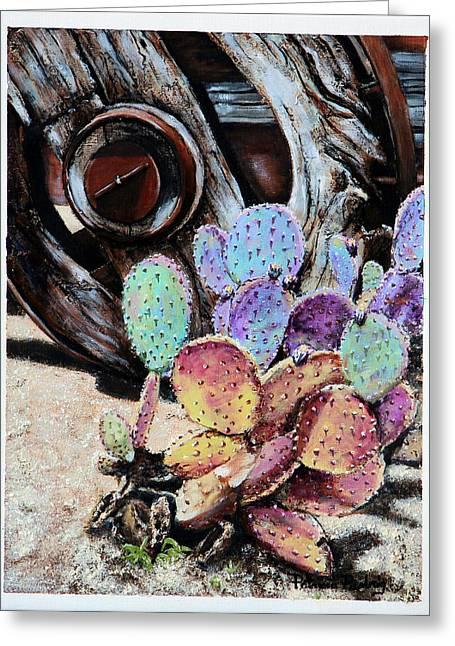 Wagon Wheels Mixed Media Greeting Cards - Wheel of Life Greeting Card by Patricia Pasbrig