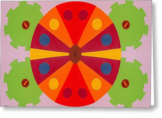 Tablets Greeting Cards - Wheel Greeting Card by Patrick J Murphy