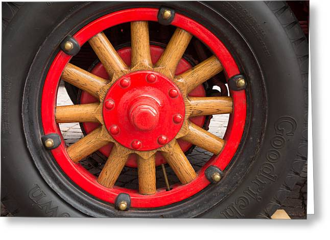 Truck Detail Greeting Cards - Wheel with spokes Greeting Card by Matthias Hauser