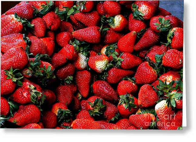 Souvenir Photo Studio Greeting Cards - Wheelbarrow Of Strawberries Greeting Card by Al Bourassa