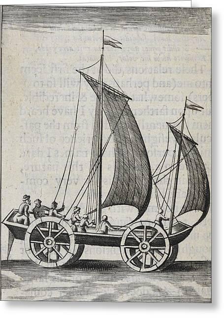 Wheeled Sail Boat Greeting Card by British Library