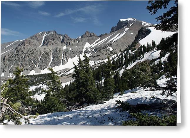 Wheeler Peak Greeting Card by Karma Boyer